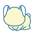 isolated cute sitting rabbit vector image vector image