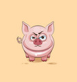 isolated Emoji character cartoon Pig sticker vector image