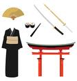 Japan symbols vector image vector image