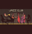 jazz club background composition vector image vector image