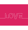 Love Text Background vector image