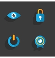 Modern colorful flat social icons vector image