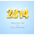 new year 2014 background gold numbers vector image vector image