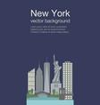 new york flat banner vector image vector image