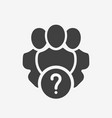 professional services icon with question mark vector image vector image