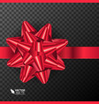 realistic beautiful red bow vector image vector image