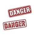 Realistic grunge textured Danger stamp isolated vector image vector image