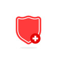 red shield like protection of health vector image