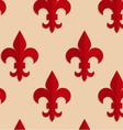 Retro fold red Fleur-de-lis vector image