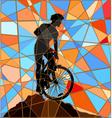 Ridge rider mosaic vector image vector image
