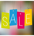 Sale shopping tags vector image