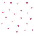 seamless polka dot pink hearts pattern vector image vector image