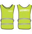 security safety vest vector image