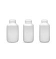 Set of medicine bottles vector image vector image