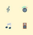 set of music icons flat style symbols with musical vector image
