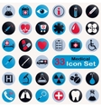 Set of round medical icons vector image vector image