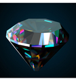 Shiny and bright diamond on a black background vector image vector image
