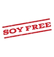 Soy Free Watermark Stamp vector image vector image