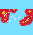 spring hand writen lettering and red vector image