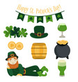 st patricks day element collection vector image vector image