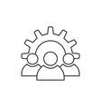 Teamwork icon outline