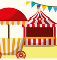 tent and food booth carnival fun fair festival vector image vector image