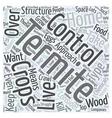 Termite Control Word Cloud Concept vector image vector image