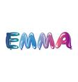 the girls name emma balloons vector image vector image