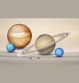 three dimensional planets concept scene vector image vector image