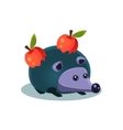 Toy Hedgehog With Apples vector image