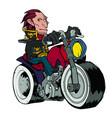 unshaven biker on a white background vector image vector image