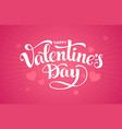 valentines day hand-drawn lettring isolated on vector image