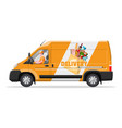van car full food products vector image