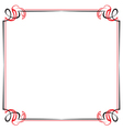 vintage black and red frame vector image vector image