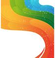Wavy rainbow background vector image vector image