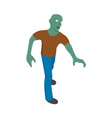 zombie man icon isometric style vector image