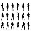 beautiful girls vector image