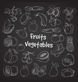 health food doodle vegetables and fruits hand vector image