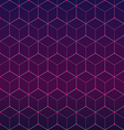 Abstract geometric hexagonal background vector image vector image
