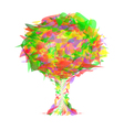 Abstract tree from colorful pieces vector image