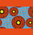 african wax print fabric ethnic seamless motifs vector image vector image