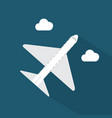 airplane icon set of great flat icons with style vector image vector image