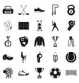 athlete icons set simple style vector image