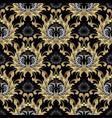 baroque seamless pattern gold baroque wallpaper vector image vector image