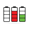 battery color vector image vector image