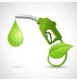 Bio fuel logo concept vector image vector image