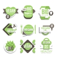 Bio Natural Vegan Product Logo Collection vector image vector image
