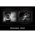 black business card set vector image vector image