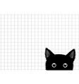 Black Cat Grid Background vector image vector image
