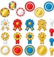 Blank award ribbon rosettes vector image